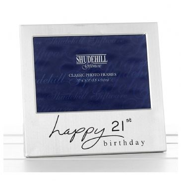 Happy Birthday Satin Silver Plated Photo Frame 21st
